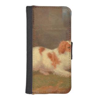 dog painting Blenheim spaniel Phone Wallet
