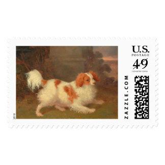 dog painting Blenheim spaniel Postage