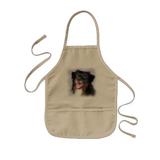 Dog painting - dog art - pet art kids' apron