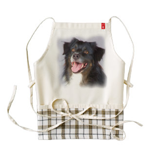 Dog painting - dog art - pet art zazzle HEART apron