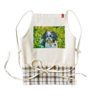 Dog painting zazzle HEART apron