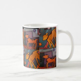 Dog Paintings Coffee Mug by Willowcatdesigns