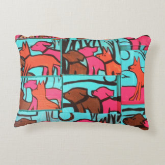 Dog Paintings Decorative Pillow
