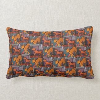Dog Paintings Pillow by Willowcatdesigns