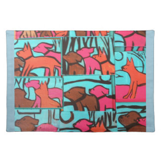 Dog Paintings Placemat