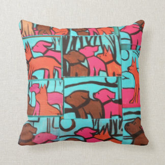 Dog Paintings Throw Pillow