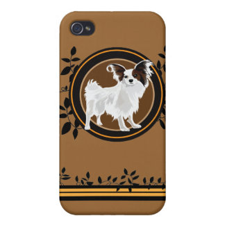 Dog Papillon Cover For iPhone 4