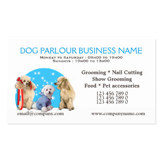 Dog parlour dog grooming PERSONALIZE Business Card