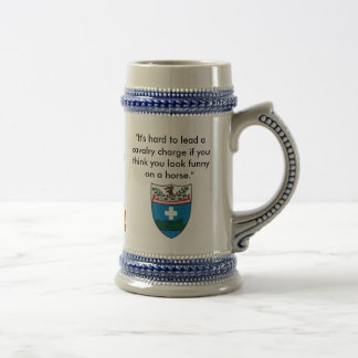 """dog patch 5, 172 crest, """"It's hard to lead a ca... Beer Stein"""