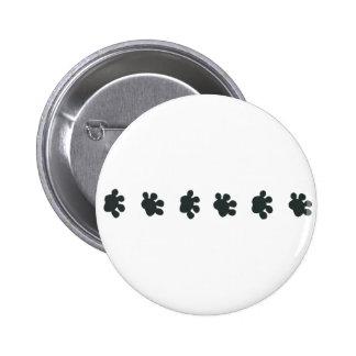 Dog Paw Border Pinback Button