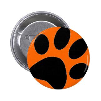 dog paw 2 inch round button