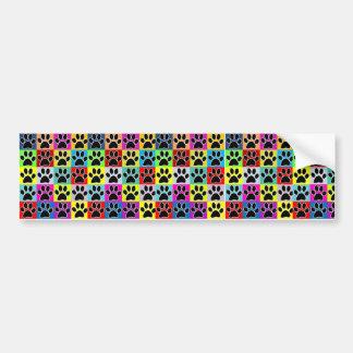 dog paw coloured bumper sticker
