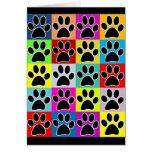 dog paw coloured card