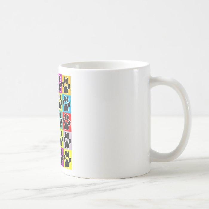 dog paw coloured coffee mug