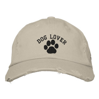 Dog Paw Dog Walker with Customizable Text Embroidered Baseball Hat