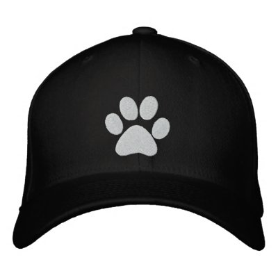 Dog Paw Embroidered Cap