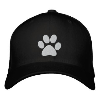 Dog Paw Embroidered Cap Baseball Cap