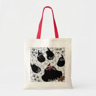 Dog Paw Furry Friends Canvas Bag