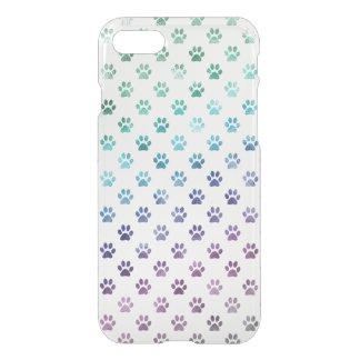 Dog Paw Green Blue Purple Rainbow White iPhone 7 Case