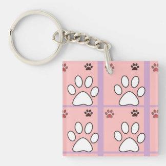 Dog paw pattern keychain