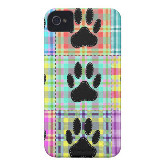 Dog Paw Pattern Quilt Case-Mate iPhone 4 Case