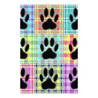 Dog Paw Pattern Quilt Stationery