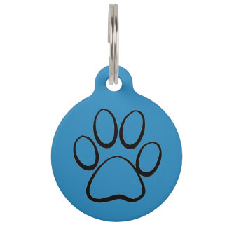 Dog Paw Pet ID Tag