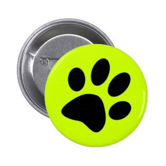 dog paw pinback button