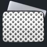 "Dog Paw Print Black White Background Metallic Faux Computer Sleeve<br><div class=""desc"">Use our cool template, artwork, photo, graphic, or illustration, then add a name, text, quote, or monogram to create your own custom or monogrammed laptop cover. Click the &quot;Customize it!&quot; button to make it totally customized. These computer covers are great gifts for men, women, and kids (and you, too, of...</div>"