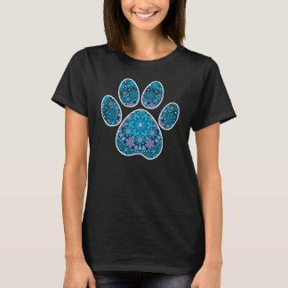 Dog Paw Print, Bohemian Snowflakes T-Shirt