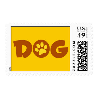 DOG PAW PRINT BROWNS YELLOWS CAUSES ANIMALS PETS POSTAGE STAMP