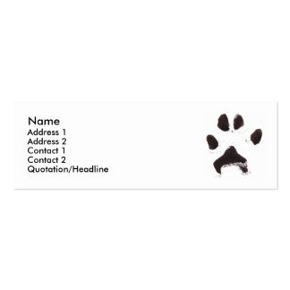 Dog Paw Print Business Card