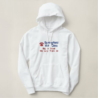 Dog Paw Print Embroidered Hoodie