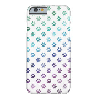 Dog Paw Print Green Blue Purple Rainbow White Barely There iPhone 6 Case