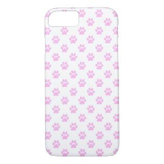 Dog Paw Print Light Pink White Background iPhone 8/7 Case