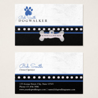 Dog paw print  personalized name business card