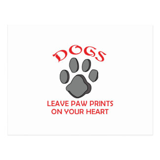 DOG PAW PRINT POSTCARD