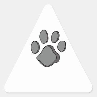 DOG PAW PRINT TRIANGLE STICKER