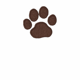 Dog Paw Print with Custom Text and Colors Polo