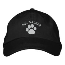 Dog Paw Print with Customizable Text & Colors Embroidered Baseball Cap