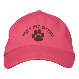 Dog Paw Print with Customizable Text & Colors Embroidered Hat