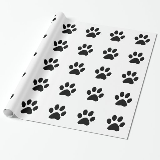 DOG PAW PRINT Wrapping Paper