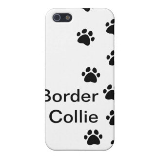 Dog paw prints - add your breed or name cover for iPhone SE/5/5s