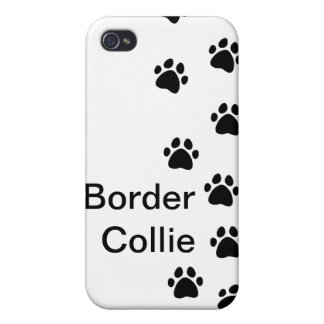 Dog paw prints - add your breed or name iPhone 4/4S cases