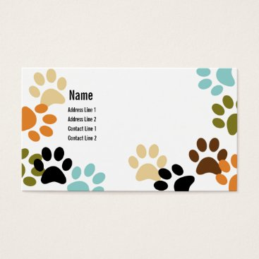 Professional Business Dog Paw Prints Business Card
