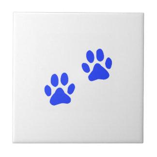 Dog Paw Prints Ceramic Tile