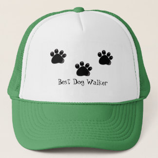 Dog Paw Prints, Dog Walker Trucker Hat