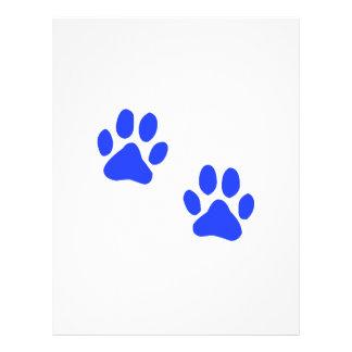 Dog Paw Prints Letterhead