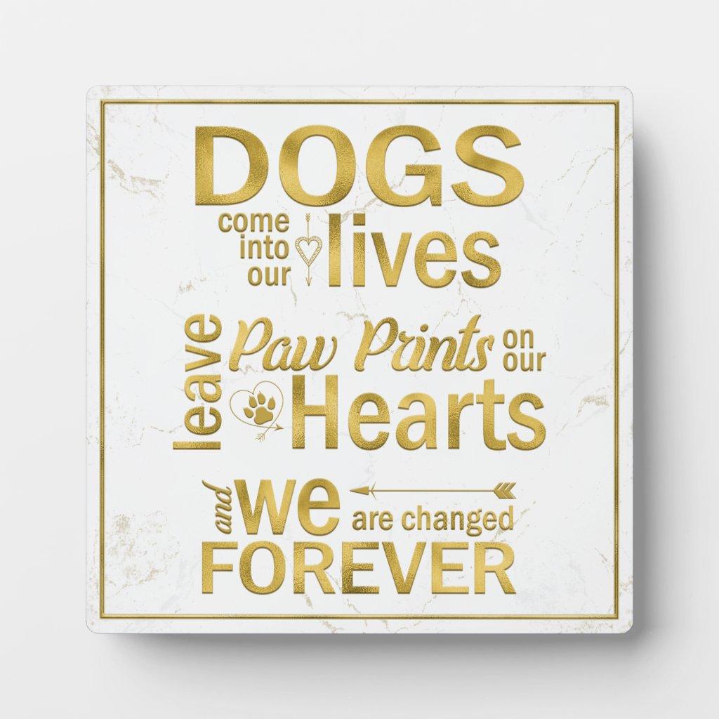 quality memorial dog tribute plaque