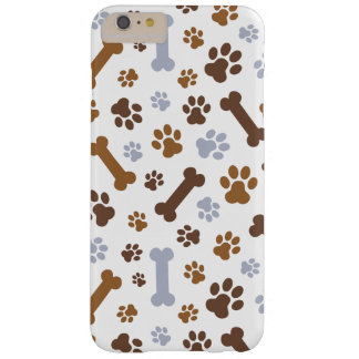 Dog Paw Prints Pattern Barely There iPhone 6 Plus Case
